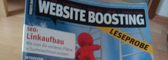 Neue Fachzeitschrift für Online-Marketing: Website Boosting