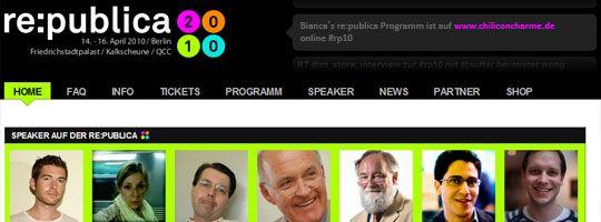 Persönliche Schwerpunkte zur re:publica sind Enterprise 2.0 und Gesellschaft